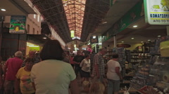 Agora Covored Market of Chania Crete Stock Footage