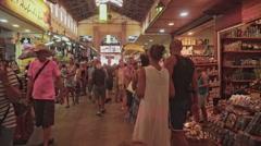 Agora Covored Market of Chania Crete - stock footage