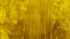 Olive Oil in bottle (macro lens) Stock Footage