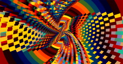 4K  abstract bright bold multicolored geometric motion background - stock footage
