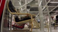 Modern testing equipment robot testing showing pushing robot arms 4k Stock Footage
