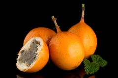 Passion fruit maracuja granadilla Stock Photos