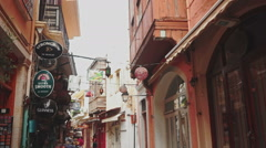 Walking Through the Downtown of Heraklion - stock footage