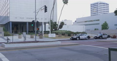 Parker Center LAPD Police Headquarters in Los Angeles, California,  Stock Footage