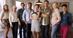 Multi-Cultural Business Team In Office Shot On R3D - stock footage