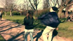 A Boy Running After A Heroin addict Girl 1 - stock footage
