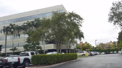 Office complex Downtown Doral business area Stock Footage