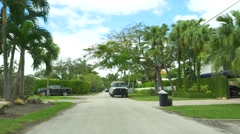 Motion video of luxury homes in Miami Florida - stock footage