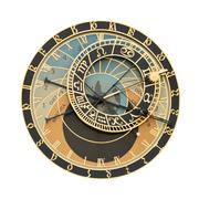Prague Orloj astronomical clock cutout - stock photo