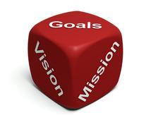 Vision, Mission, Goals Stock Illustration