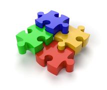 Jigsaw Puzzle Pieces Stock Illustration