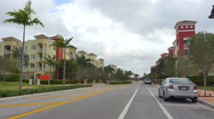 Residential development Doral FL Stock Footage