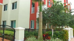 Townhomes with little gardens Stock Footage