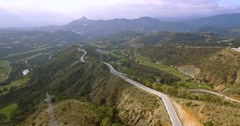 4K Aerial, View on golf course and hairpin bends, Andalusia, Spain Stock Footage