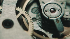 The mechanism of analog hours. - stock footage