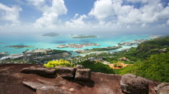 Seychelles Mahe Coastline View Stock Footage