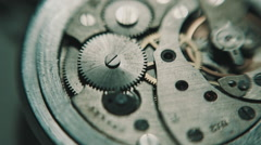 The mechanism of analog hours. Stock Footage