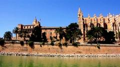 Cathedral Santa Maria in Palma de Mallorca Stock Footage