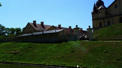 Nesvizh Castle in Belarus Stock Footage