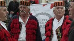 Male choir singing rera Stock Footage
