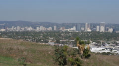 Century City shot from Baldwin Hills Stock Footage