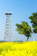 Lookout tower, Novy Poddvorov, Czech Republic Stock Photos