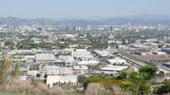 Hollywood and Culver City shot from Baldwin Hills Stock Footage