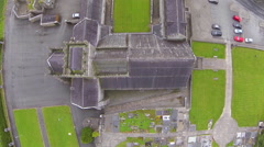 Aerial footage of Holycross abbey which is located in Tipperary in Ireland. Stock Footage