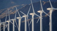 ELECTRICITY GENERATING WINDMILLS in the Southern California  Stock Footage