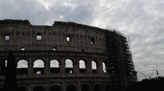 Colosseum or Flavian Amphitheatre in Rome, Italy Stock Footage