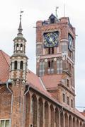 city hall of Torun, Rynek Staromiejski, Kuyavia-Pomerania, Poland - stock photo