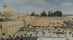 Jerusalem western wall Time lapse. - stock footage