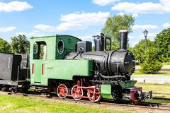 narrow gauge railway, Elk, Warmian-Masurian Voivodeship, Poland - stock photo