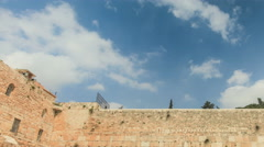 Jerusalem western wall Time lapse. Stock Footage