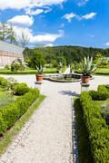 garden of cistercian monastery in Zwettl, Lower Austria, Austria - stock photo