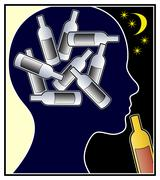Alcohol Addicted Woman Stock Illustration