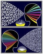Developing Reading Skills Stock Illustration