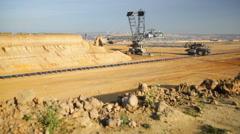 Pit Mine Excavator Time Lapse Stock Footage