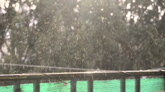 Looping water drops on balustrade - stock footage