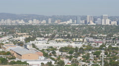 Culver City shot from Baldwin Hills  Stock Footage