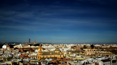 Sevilla Timelapse. skyline. Spain Stock Footage