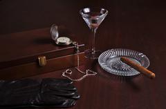 Classy gentlemen related items Stock Photos