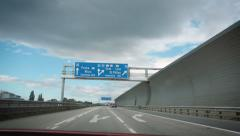 Austrian highway sign Stock Footage