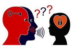 Communication Breakdown in Puberty Stock Illustration