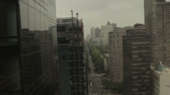 Aerial Sweep over New York Street - stock footage