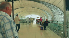 Passengers in the terminal of Bangkok airport Stock Footage
