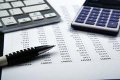 Business still life with accounting Stock Photos