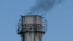 Pipe smoke pollution Stock Footage