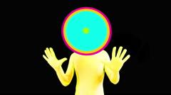 alien speaker audio music raver man cartoon party - stock footage