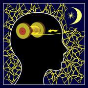 Sleep clears the Mind Stock Illustration